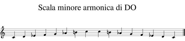 scala minore armonica di do