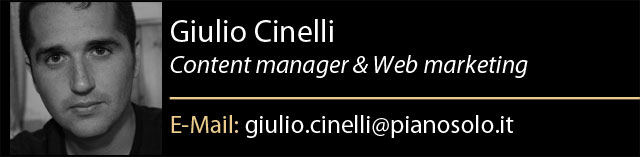 Giulio Cinelli è Content Manager e Web Marketing