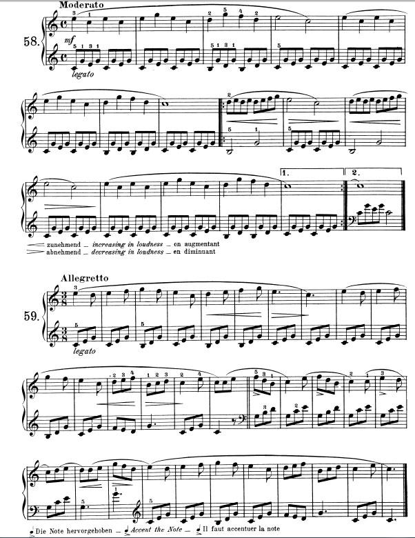 Preferenza Esercizi n.58-59 Beyer op.101 Lezione n.36 - Pianosolo, il portale  KG94