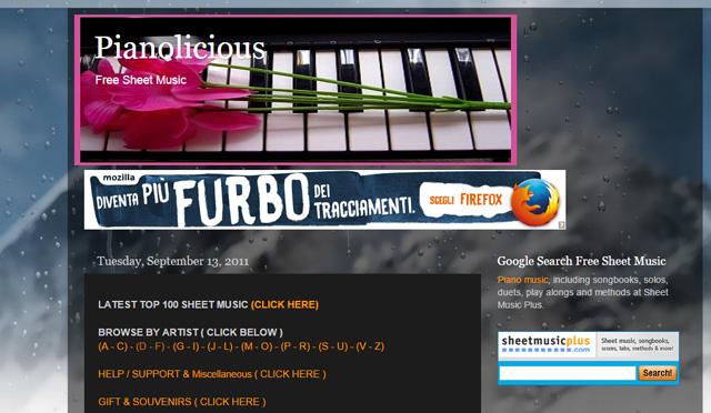 pianolicious-spartiti