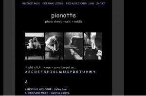 En pianotte puedes encontrar miles de partituras musicales !