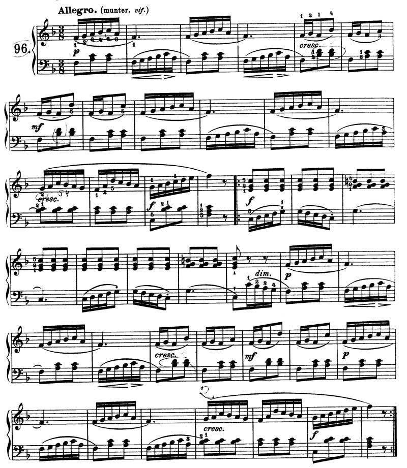 Esercizio n.96 del Beyer op.101