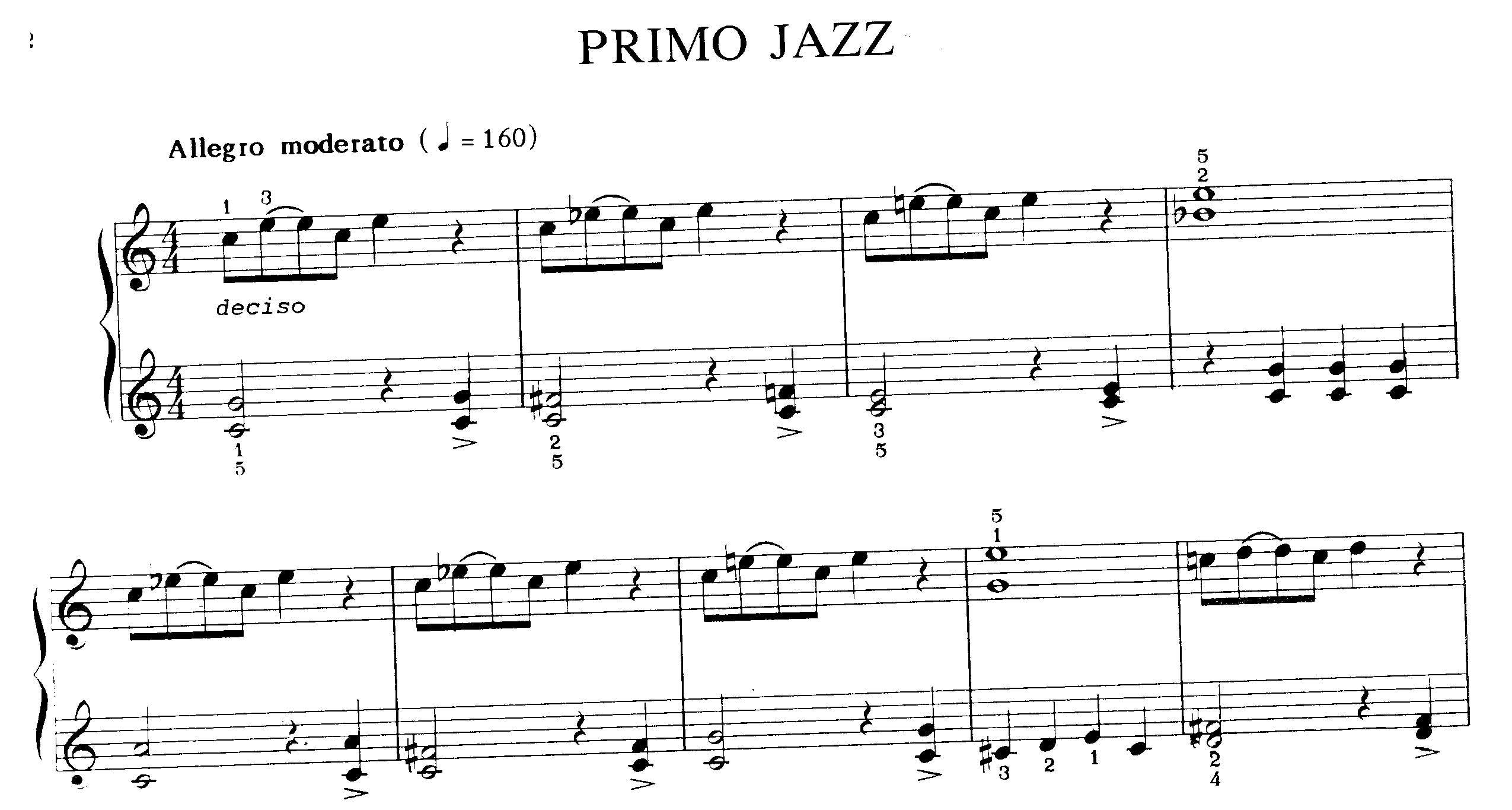 Partiture jazz per piano