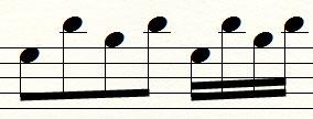 variante ritmica lento veloce
