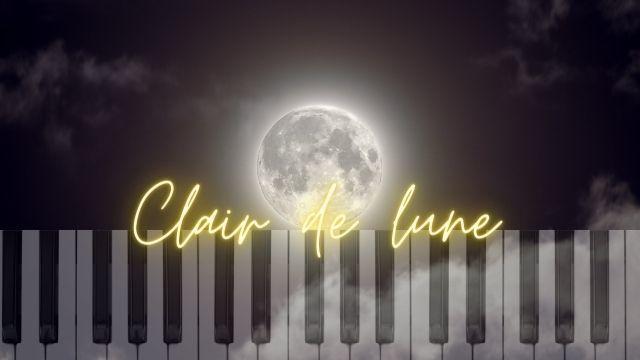 spartito facilissimo clair del lune